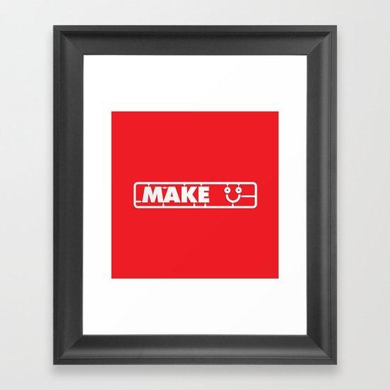 Make People Happy Framed Art Print