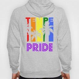 Tempe Pride Gay Pride LGBTQ Rainbow Palm Trees Hoody