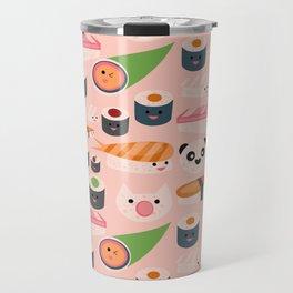 Kawaii sushi light pink Travel Mug