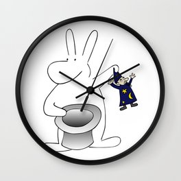 Rabbit and magician Wall Clock