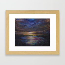 out of darkness comes light Framed Art Print