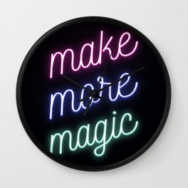 Make More Magic Wall Clock