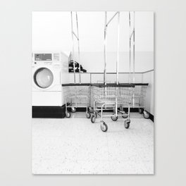 At the Laundromat Canvas Print