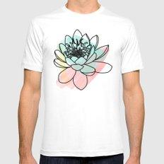 Lotus Mens Fitted Tee MEDIUM White