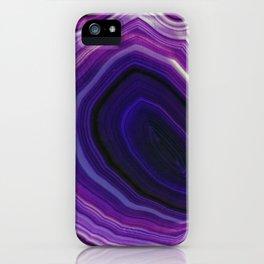 Swirled Purple Geode iPhone Case