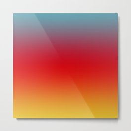 Aruba - Classic Colorful Blue Red Yellow Abstract Minimal Modern Summer Style Color Gradient Metal Print