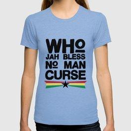 Who Jah Bless Women_s jamaican grandpa T-shirt