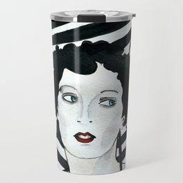 Stripy Umbrella Travel Mug