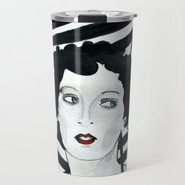 Stripy Umbrella Travel Mug