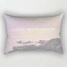 Sea You Soon Sunset Rectangular Pillow