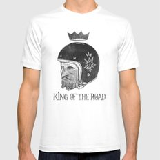 King of the Road Mens Fitted Tee MEDIUM White