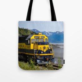 5298 - Alaska Passenger Train Tote Bag
