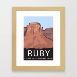 Ruby Programming Landscape poster Framed Art Print