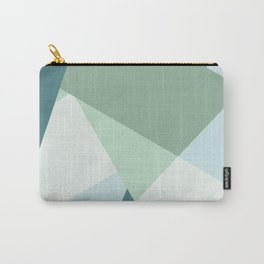 Modern abstract beach color block geometric stripes blue green pattern Carry-All Pouch