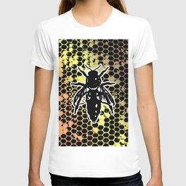 Geometrical Honeycomb & Bee T-shirt