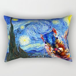 Starry Night Squirrel Photo Bomb Pop Art Rectangular Pillow
