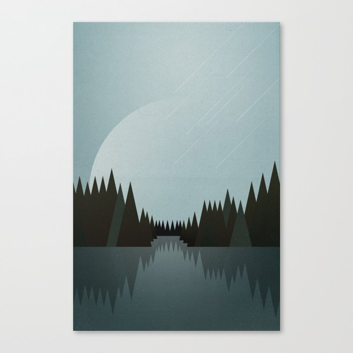 That Night in the Clearing Canvas Print