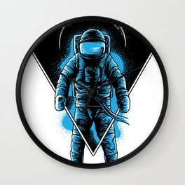 Space Astronaut Galaxy surfer Wall Clock