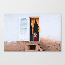 Tajikistan Girl Canvas Print