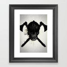 Viking Skull Framed Art Print