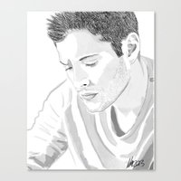 dean winchester Canvas Prints featuring Dean Winchester by Nasher67671