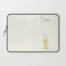 Bunny in the rain Laptop Sleeve