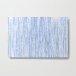 Pastel blue textile print, sky color, blue fabric fibers, denim material like design, baby blue Metal Print