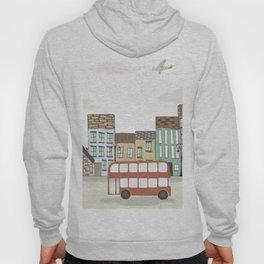 Quirky London Bus Street Scene Hoody