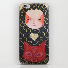 In the Thicket Hides a Foxy Spirit iPhone Skin
