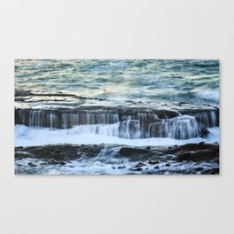 Shore Acres State Park Ocean Waterfalls Canvas Print