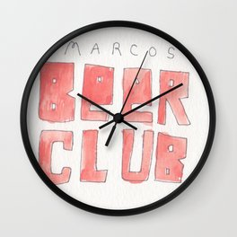 MARCOS BEER CLUB Wall Clock