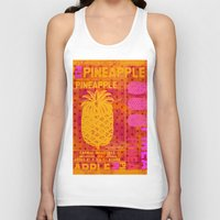 pineapple Tank Tops featuring Pineapple by LebensART