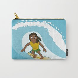 Surfing man cartoon Carry-All Pouch