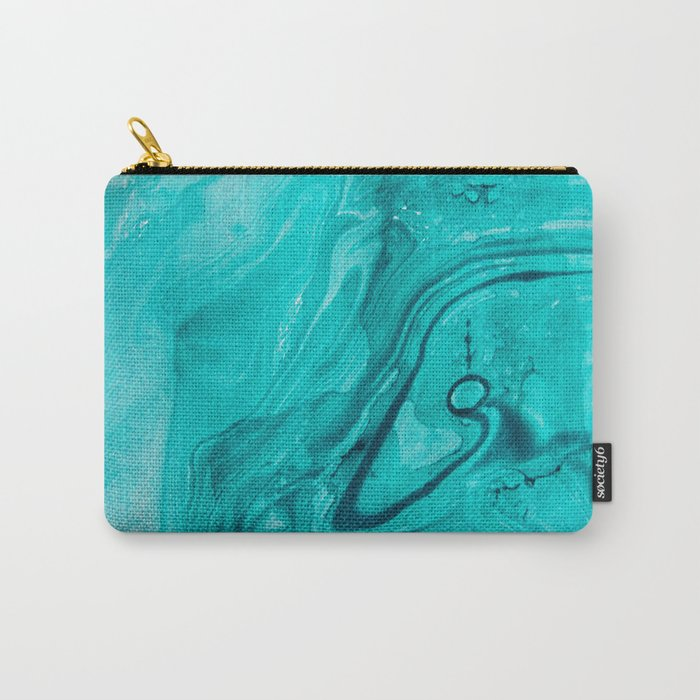 Watercolors teal Carry-All Pouch