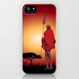 Masai & Africa iPhone Case