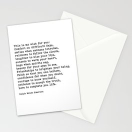 My Wish For You, Ralph Waldo Emerson, Quote Stationery Cards