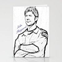 stargate Stationery Cards featuring John Sheppard by Samy