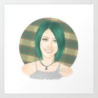 jenna kutcher Art Prints featuring Jenna McDougall by attkcherry