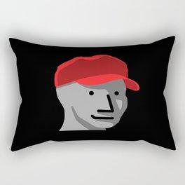 MAGA KID - STAND STRONG - MAGA SMILING KID - NPC Wojak - MEME Rectangular Pillow