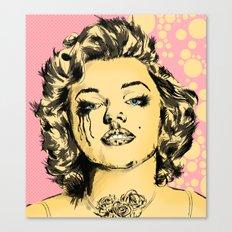 Mirror Monroe Canvas Print