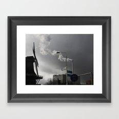 Wind & Smoke Framed Art Print