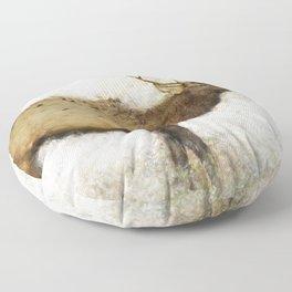 Grand Canyon Elk No. 1 Wintered Floor Pillow
