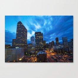Denver Dusk Canvas Print