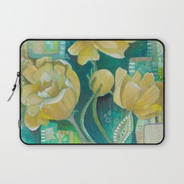Yellow Blooms Laptop Sleeve