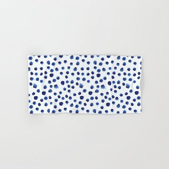 Blue brushstrokes Hand & Bath Towel