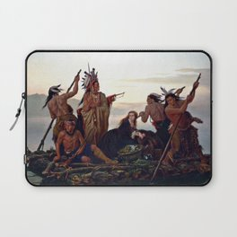 The Abduction of Boone's Daughter by the Indians Laptop Sleeve