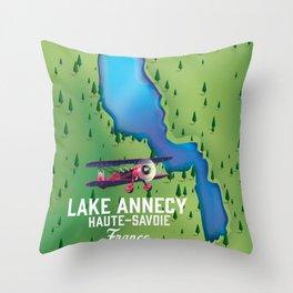 Lake Annecy,Haute-Savoie France Throw Pillow