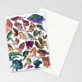 Reverse Mermaids Stationery Cards