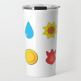 Kanto Gym Badges Travel Mug