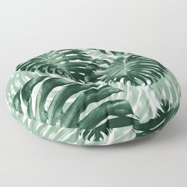Tropical Monstera Jungle Leaves Pattern #1 #tropical #decor #art #society6 Floor Pillow